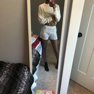 SHEIN Black and white striped shorts